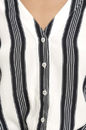Cole Valley Black and White Striped Top 6