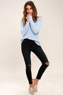 Who Loves You Washed Black Distressed Skinny Jeans 1