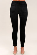 Who Loves You Washed Black Distressed Skinny Jeans 4
