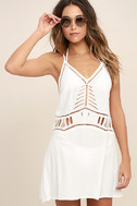 Exotic Locale White Crocheted Cover-Up 1