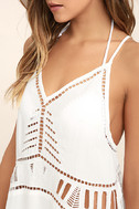 Exotic Locale White Crocheted Cover-Up 5