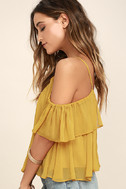 Got Me Moving Golden Yellow Off-the-Shoulder Top 3