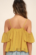 Got Me Moving Golden Yellow Off-the-Shoulder Top 4