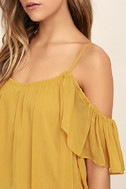 Got Me Moving Golden Yellow Off-the-Shoulder Top 5