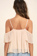 Got Me Moving Blush Pink Off-the-Shoulder Top 4