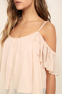 Got Me Moving Blush Pink Off-the-Shoulder Top 5