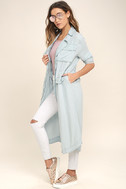 Highways and Byways Light Blue Chambray Jacket 2