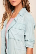 Highways and Byways Light Blue Chambray Jacket 5