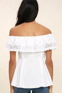 Sweet Day White Lace Off-the-Shoulder Top 4