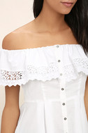 Sweet Day White Lace Off-the-Shoulder Top 5