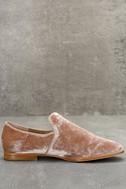 Steven by Steve Madden Adrianna Blush Velvet Loafers 4