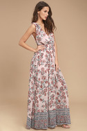 Wings of Fancy Blush Pink Floral Print Maxi Dress 2