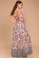 Wings of Fancy Blush Pink Floral Print Maxi Dress 3