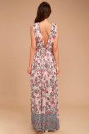 Wings of Fancy Blush Pink Floral Print Maxi Dress 4