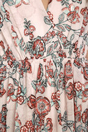 Wings of Fancy Blush Pink Floral Print Maxi Dress 6