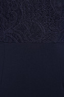 Love Potion Navy Blue Lace Halter Maxi Dress 6