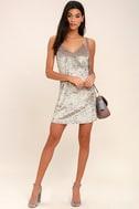 Wind it Up Grey Velvet Slip Dress 2