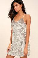 Wind it Up Grey Velvet Slip Dress 3