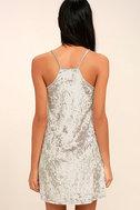 Wind it Up Grey Velvet Slip Dress 4