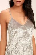 Wind it Up Grey Velvet Slip Dress 5