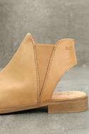 Musse & Cloud Ciara Tan Leather Peep-Toe Booties 7