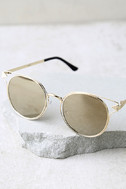Good Golly Gold Mirrored Sunglasses 2