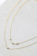 Finer Things in Life Gold Layered Choker Necklace 3