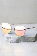 Miss Blue Sky Rose Gold and Pink Mirrored Sunglasses 3