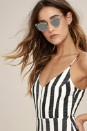 Spitfire Outward Urge Gold and Clear Mirrored Sunglasses 1