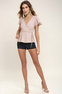 Modern Gal Blush Wrap Top 2