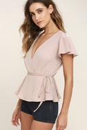 Modern Gal Blush Wrap Top 3
