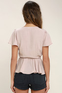 Modern Gal Blush Wrap Top 4