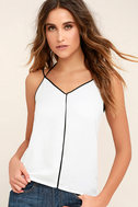 All Day Long Black and White Top 1