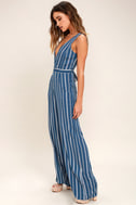 Montauk Yacht Club Blue and White Striped Jumpsuit 3