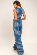 Montauk Yacht Club Blue and White Striped Jumpsuit 4