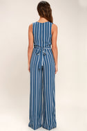 Montauk Yacht Club Blue and White Striped Jumpsuit 5