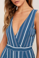 Montauk Yacht Club Blue and White Striped Jumpsuit 6