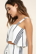 Faithfull the Brand Agios Black and White Striped Crop Top 3