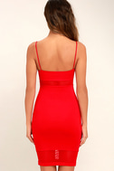 Something Between Us Red Bodycon Midi Dress 4
