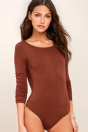 Hype-Worthy Washed Burgundy Backless Bodysuit 4