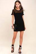 Iced Latte Black Shift Dress 2