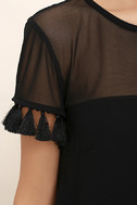 Iced Latte Black Shift Dress 6