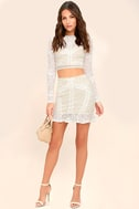 Verena White Lace Two-Piece Dress 2