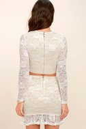Verena White Lace Two-Piece Dress 3