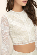 Verena White Lace Two-Piece Dress 6