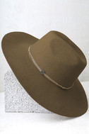 Wyeth Rancher Taupe Fedora Hat 2