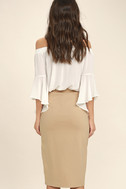 Perfectionist Beige Pencil Skirt 3