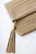 Leave it to Me Beige Clutch 2