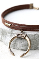 Rhythmic Gold and Brown Choker Necklace 3