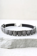 Temple of Temptation Silver and Black Choker 2